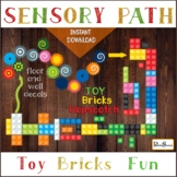TOY BRICKS Sensory path, Hopscotch, Floor and wall decals, Motor stations