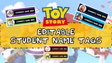 TOY STORY CLASSROOM EDITABLE DESK LABELS FOR BACK TO SCHOOL