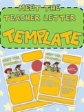 TOY STORY MEET THE TEACHER NEWSLETTER TEMPLATE EDITABLE BACK TO SCHOOL