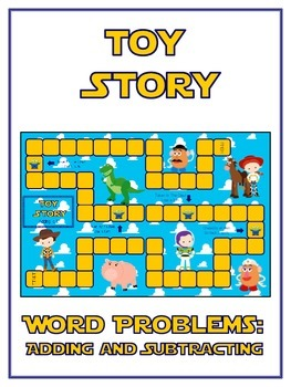 TOY STORY - Word Problems Adding & Subtracting - Math Folder Game