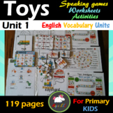TOYS VOCABULARY UNIT: Great for ESL, Early Primary, Speech