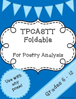 TPCASTT Foldable - Poetry
