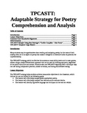 TPCASTT - ELA Poetry Comprehension and Analysis Strategy