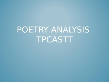 TPCASTT Intro PPT