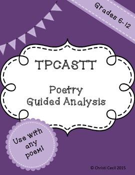 TPCASTT - Poetry Guided Analysis
