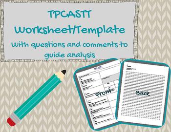 TPCASTT Worksheet Template