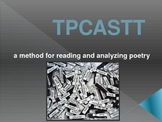 TPCASTT - introduction to the method -- includes sample poem