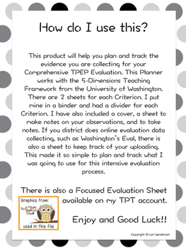 TPEP Evidence Planning