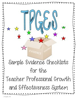 TPGES Evidence Checklists for Evidence Collection