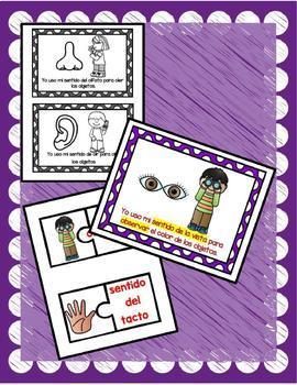 TPR Lesson Mis Cinco Sentidos My Five Senses Bundle