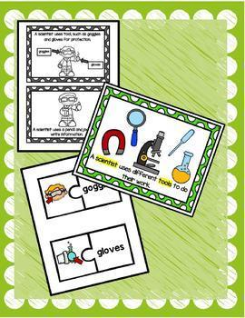 TPR Lesson to teach about I am a Scientist Bundle (English Version)