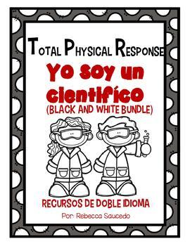 TPR Lesson to teach about I am a Scientist Yo soy cientifico Bundle