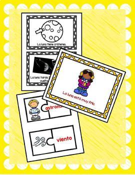 TPR Lesson to teach about La Luna (The Moon) Bundle with B&W Booklet