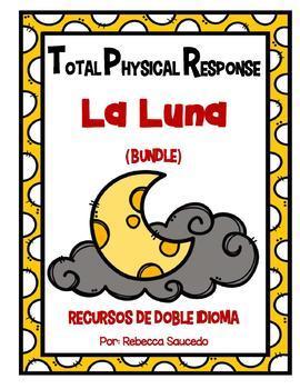 TPR Lesson to teach about La Luna (The Moon) Bundle with Color Booklet