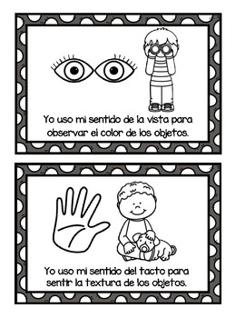 TPR Lesson to teach about Mis Cinco Sentidos My Five Senses Student Booklet