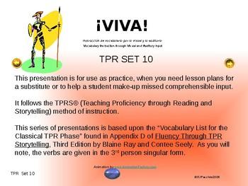 ¡VIVA! Set 10 - Comprehensible Input - Listening - Spanish 1