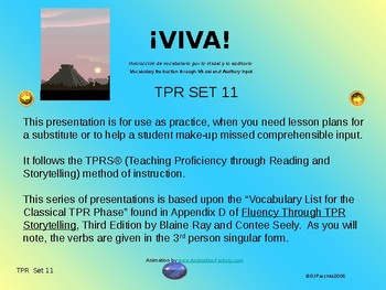 ¡VIVA! Set 11 - Comprehensible Input - Listening - Spanish 1