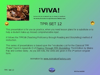 ¡VIVA! Set 12 - Comprehensible Input - Listening - Spanish 1