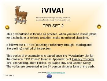¡VIVA! Set 2 - Comprehensible Input - Listening - Spanish 1