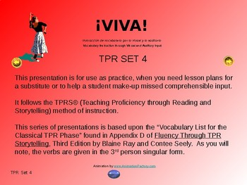 ¡VIVA! Set 4 - Comprehensible Input - Listening - Spanish 1
