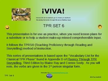 ¡VIVA! Set 6 - Comprehensible Input - Listening Spanish 1