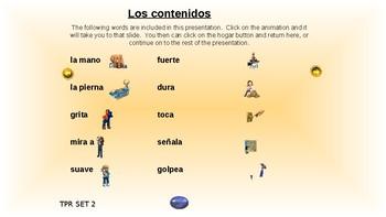 ¡VIVA! Sets 1 - 13 Content Slides - Comprehensible Input - Listening - Spanish 1