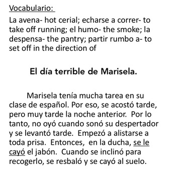 "TPR Story and Activity for Non-intentional ""Se"" for Spanish Three or Four"