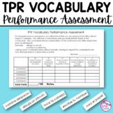 TPR Vocabulary Performance Assessment