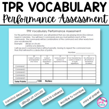 TPR Vocabulary Performance Assessment