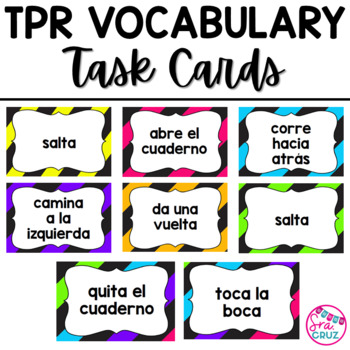 TPR Vocabulary Task Cards