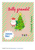 Christmas French story - Une histoire de Noël : Billy grandit