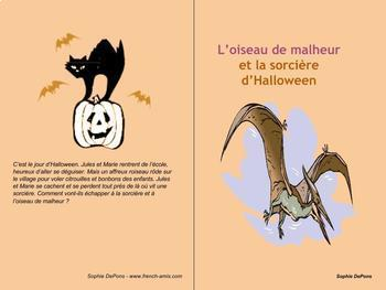 Halloween - A french strory with questions - L'oiseau de m