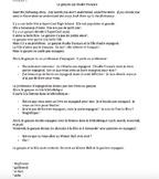 TPRS French 1 reading (284 words): Le garçon qui étudie fr