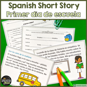 TPRS Spanish short story about school using high frequency verbs #COVID19WL