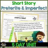 TPRS Spanish short story using preterite & imperfect w Digital