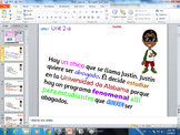 TPRS Story Justin, class vocab- ar verbs and MORE, MUST SEE.