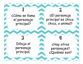 TPRS Story Task Cards in Spanish and English