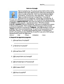 TPRS Story and questions for reading comprehension.