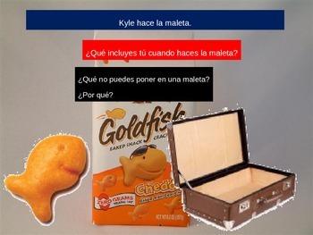 TPRS Digital Story: Kyle el pez (Transportation Vocabulary)