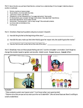 TPRS- Storyboard-Emotions, invitations