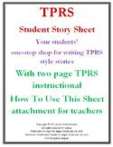 TPRS Student Story Sheet
