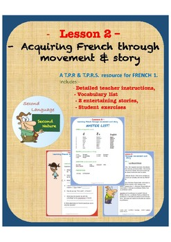 TPRS & TPR French. LESSON TWO. Acquire French Through Movement and Story.