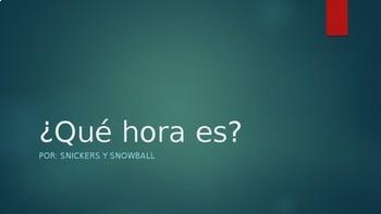 TPRS- Telling time in Spanish (la hora)