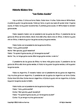 TPRS basic story. Spanish Beginners