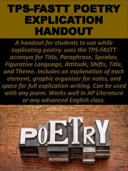 TPS-FASTT Poetry Explication Handout