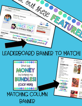 TPT Fully Animated Quote Box Gif & Banners {Cool Colors}