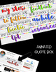 TPT Animated Quote Box & Banners {Rainbow Brights}