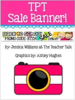 TPT Back to School Sale Banner!