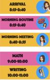 TPT Bitmoji Class Schedule