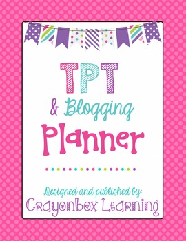 Teachers Pay Teachers Seller Planner - Blogging & Social Media Planner
